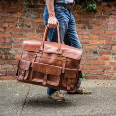 Everett Leather Travel Bag