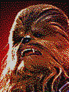 Chewbacca - Star Wars with Pixel Art Quercetti