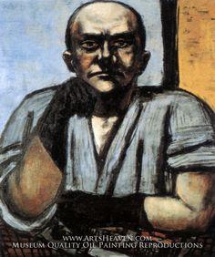 """max beckmann - """"Self-Portrait with Dark Blue Gloves"""""""