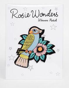Rosie Wonders – Papageien-Bügelaufnäher