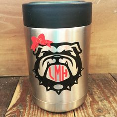 Monogrammed Bulldog Decal by TheDTMMonograms on Etsy https://www.etsy.com/listing/245727322/monogrammed-bulldog-decal