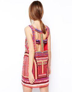 ASOS | ASOS Embellished Cage Shift Dress at ASOS