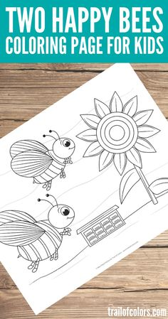 Free Printable Bees Coloring Page