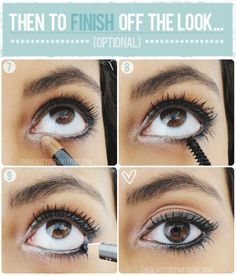 smudging part 2: You can leave it as is, or to finish the look, continue with an inner corner highlight (for you anya, don't do white , opt for gold instead) and a couple coats of mascara. Then if you really want extra drama, go back and rim the inner waterline with the gel liner.