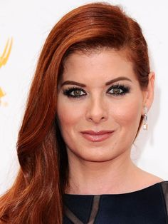 Debra Messing at the 2014 Emmy Awards: http://beautyeditor.ca/2014/08/27/emmy-awards-2014/