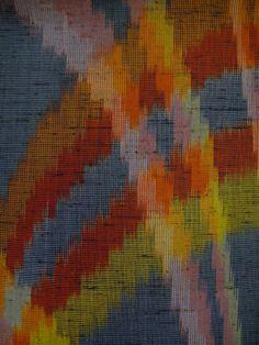 Wool japanese kimono fabric vintage tsumugi weave by GreatTextiles, $12.90