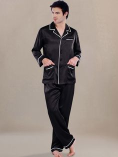 Men Silk Pajamas | Kylee and Shyla | Pinterest | Pajamas, Pajamas ...