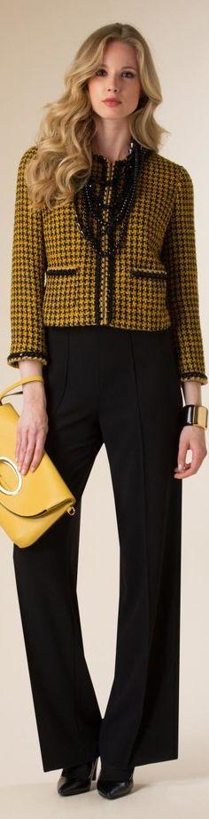Luisa Spagnoli 2015/16 women fashion outfit clothing style apparel @roressclothes closet ideas