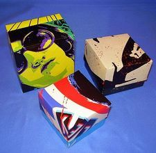 gift boxes made from magazines