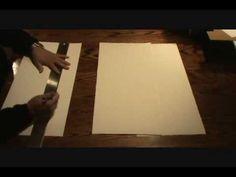 Artist Teesha Moore shows how to make an 8 x 16 page journal from a single 22 x 30 sheet of Fabriano paper. Artist Journal, Art Journal Pages, Art Journaling, Junk Journal, Handmade Journals, Handmade Books, Origami, Art Journal Tutorial, Mixed Media Journal