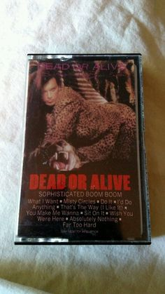 Dead Or Alive - Sophisticated Boom Boom USA Cassette (Electro/Synth) Rare 1983 #ElectroSynth