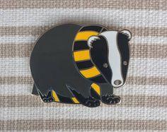 Scarf hufflepuff inspired badger pin.