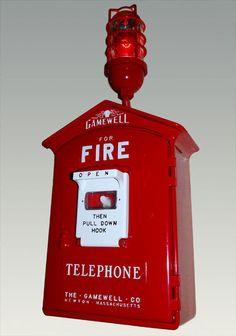 Gamewell Fire Alarm Call Box - :