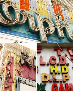 from LA's historical downtown theater district you can view some amazing exteriors and forgotten signage