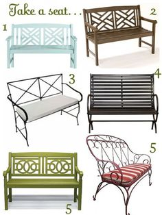 Cute bench options for the front porch