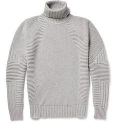 80e39e36ecbb Belstaff Littlehurst Panelled Virgin Wool and Cashmere-Blend Rollneck  Sweater