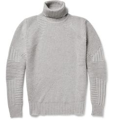 Belstaff Littlehurst Panelled Virgin Wool and Cashmere-Blend Rollneck Sweater   MR PORTER
