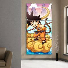 #Kid #Goku #Flying #Nimbus #Cloud #Cartoon #3Pc #Canvas #Print – #Saiyan #Stuff