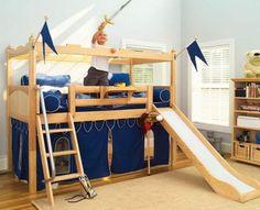 Ridderborg-seng. Lavet udfra Ikea højseng og mdfplader | Børneværelse | Pinterest | Kids rooms ...