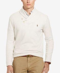 POLO RALPH LAUREN Polo Ralph Lauren Men's Ribbed Shawl Pullover. #poloralphlauren #cloth # sweaters