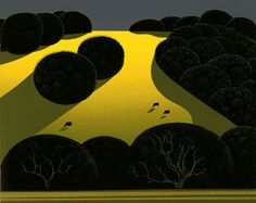 """ALAMO PINTADO"", by Eyvind Earle (Amercan 1916-2000); 8"" x 10"" image on Strathmore, 1975 Edition of 220"