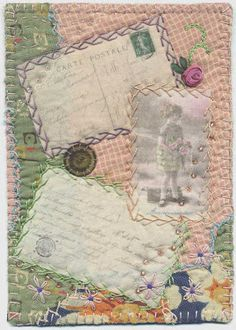 mixed media w/ quilts - I've been thinking of doing this for a long time.... maybe techniques are better for pics now...