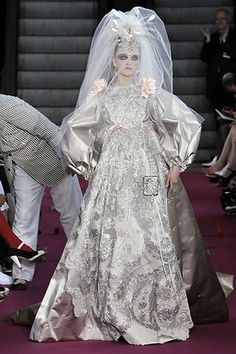Wedding dress in Russian Imperial style by Christian Lacroix. #bride #dress #Russian #weddings