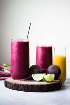 Red Zinger Beet Smoothie - sneak in more vegetables by making this beet smoothie! It's filled with beets, beet greens, fruits and a touch of spice!