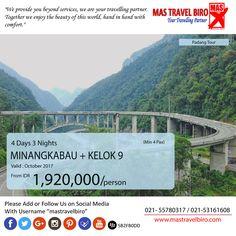 Pagi Travelers Mas Travel Biro punya promo Minangkabau + Kelok 9.  4 Hari 3 Malam dengan harga Rp 1.920.000 (Min 4 pax)  Buruan booking dan Hubungi👇 Phone : 021 55780317 WA : 081298856950 Email : tourhotel.metos@mastravelbiro.com  #mastravelbiro #promotravel #travelagent #tourtravel #padang #minangkabau #kelok9 #indonesia