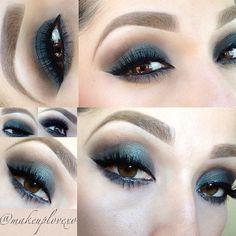 Smoked eye using urban decay palette  @makeuplovexo