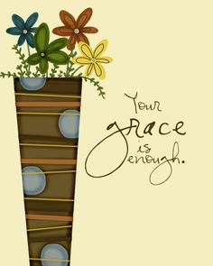 Grace and Mercy  As we grow to become more like Christ, our behavior grows more distinctive from the world. Believers should be known for their eagerness to do good and help others.Someone who sees grace as permission to sin has missed grace entirely.  Photo Source http://www.etsy.com/shop/EmilyBurgerDesigns   http://godsgracefulness.com