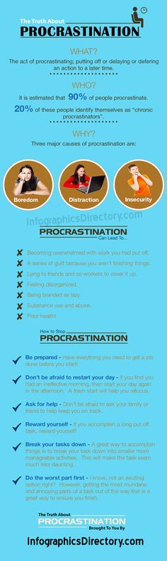 Infographics – The Truth About Procrastination | How To Stop Procrastination ? - InfographicsDirectory.com