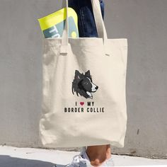 I LOVE BORDER COLLIE! #bordercollie #love #doglovers #dogs #tote #totebag #bags #heart #doglove #cute #dog #bordercollielover