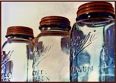 There's something so beautiful to me about canning jars...maybe because of the precious gift they usually contain...the handiwork of farmers and wonderful cooks