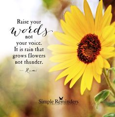 Jenni & Bryant are creating Simple Reminders for Inspired Living Simple Reminders Quotes, Reminder Quotes, Simple Quotes, Sunflower Poem, Sunflower Garden, Wisdom Quotes, Me Quotes, Daisy Quotes, Happiness Quotes