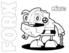 mixel coloring page | my little corner