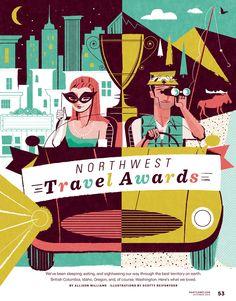 Seattle Met, Travel Awards - See Scotty Design & Illustration