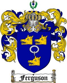 FERGUSON FAMILY CREST - COAT OF ARMS gifts at www.4crests.com English Heritage, My Heritage, Family Shield, Family Crest, My Ancestors, England Ireland, Devon England, Crests, Scottish People