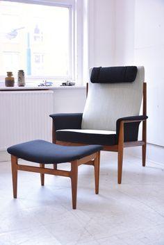 FINN JUHL teak armchair with ottoman | DesignAddict