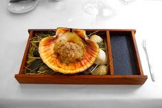 Restaurant – Restaurant Frantzen – Stockholm, Sweden Head Chef – Björn Frantzén Style Of Food – Modern Scandinavian Web - http://www.restaurantfrantzen.com/ Dish – Scallop in cooked in its own shell with a Swedish dashi