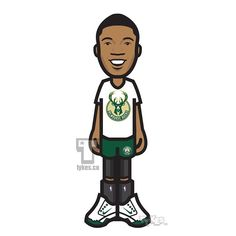 "Milwaukee Bucks ""New Logo"" modeled by Giannis Antetokounmpo Tyke. Designed by Brooklyn-based firm Doubleday & Cartwright, the Bucks' new look sheds the red elements of the color scheme the team has employed since the 2006-07 season in favor of a pair of additions — ""Cream City Cream"" and ""Great Lakes Blue"" intended to evoke the brickwork that's a touchstone of the city's architecture and the ""abundance of fresh water"" in the surrounding area. #MilwaukeeBucks #Bucks #TheGreekFreak #NBA…"
