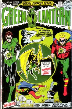 green lantern comic art | Green Lantern Green Arrow #88 dc comic book cover art by Neal Adams