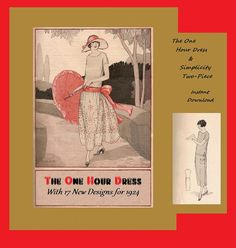 1920's One Hour Dress by Mary Brooks Picken.