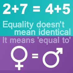 Equality doesn't mean identical http://www.evematch.com/ #Gay #Lesbian #LGBT #Queer #Love #Girls