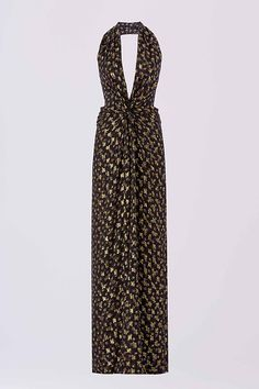 The DVF Evelina dress features a deep v-neckline with twist detail, mixed prints and flattering side slits. Pair with a low bootie for an edgy evening look.