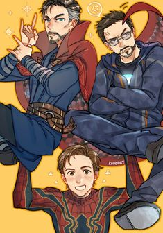 Dr Stephen Strange, Cloak of Levitation, Tony Stark Iron Man, Peter Parker Spiderman Marvel Jokes, Avengers Memes, Marvel Funny, Marvel Dc Comics, Marvel Heroes, Funny Comics, Onii San, Familia Anime, Marvel Fan Art