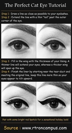 And FINALLY perfect a heavier cat eye. | 15 Easy Hacks For Perfect Eyeliner