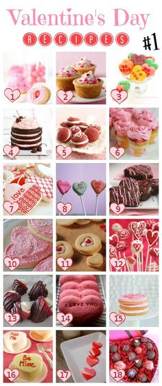 18 Best Valentine's Day desserts! Recipes for Valentine's Day parties and treats.