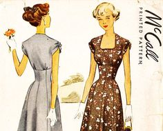 McCall 7575 Vintage 1940s Juniors Dress with by DRCRosePatterns