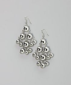 Take a look at this Silver Mod Dot Earrings by Occasionally Made on #zulily today!